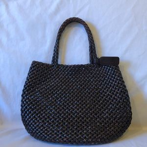 J. Crew small woven tote.  Excellent condition.